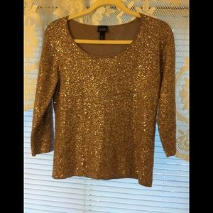 Eileen Fisher knitted sequin top NWT